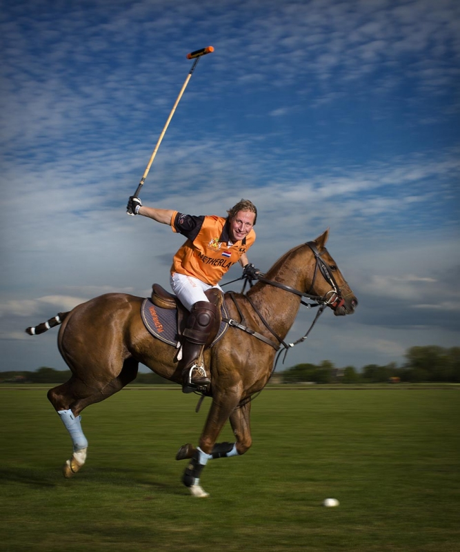 Polo speler Jim Souren